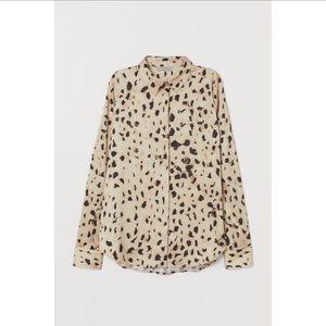 Silk animal print blouse US size 10